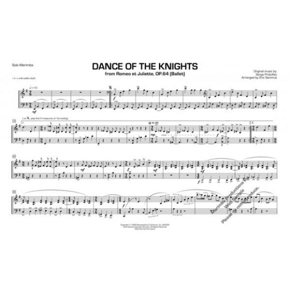 SAMMUT Eric : Dance of the knights (Prokofiev)