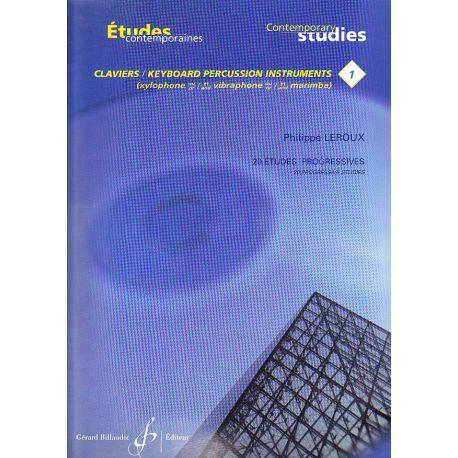 LEROUX Philippe : Etudes contemporaines pour claviers 1
