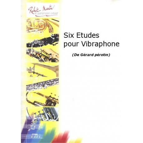 PEROTIN Gérard : Six études pour vibraphone